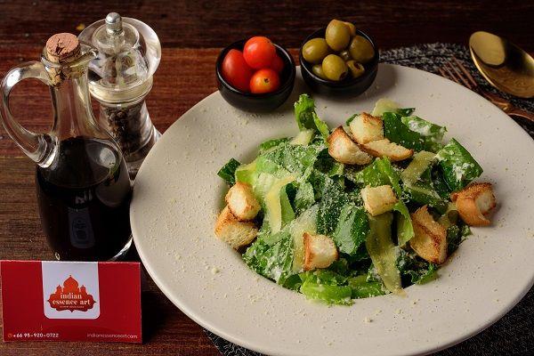 Caesar salad with Chicken Tikka