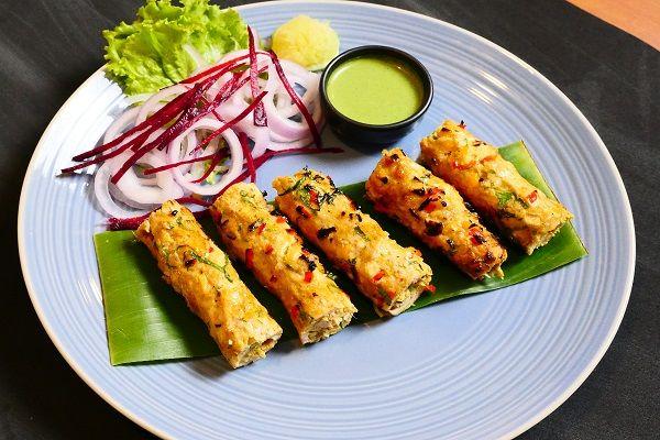 Chicken Gilafi Seekh Kebab