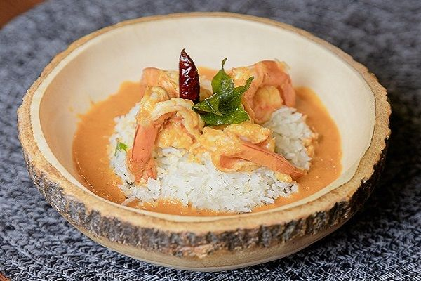 Malabar Prawns Curry Served with Coconut rice